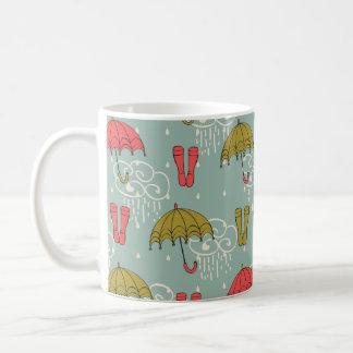 Taza De Café Diseño del paraguas de la estación de lluvias