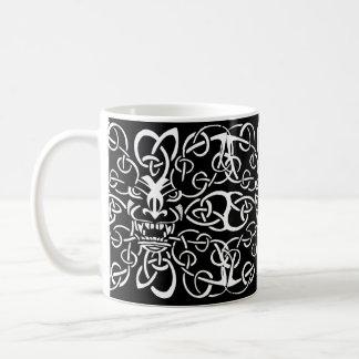 Taza De Café Diseño étnico del modelo de la máscara tribal