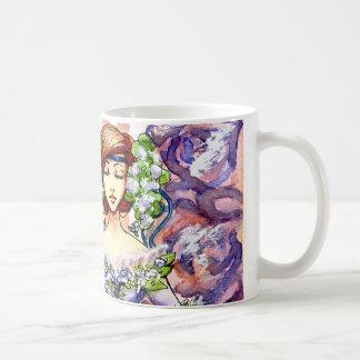 Taza De Café Diseño floral de la acuarela del Victorian
