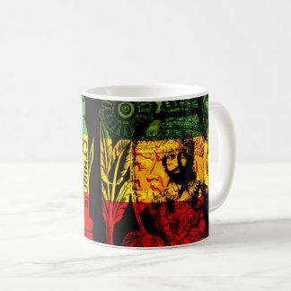 Taza De Café Diseño místico natural de Haile Selassie Rasta
