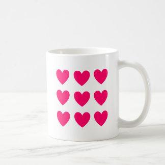 Taza De Café Diseño rosado del corazón