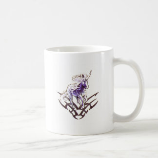 Taza De Café Diseño tribal del tatuaje del unicornio