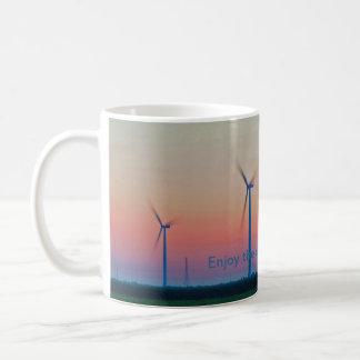 Taza De Café Disfrute de la salida del sol