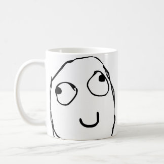 Taza de café divertida cómica de la cara de la