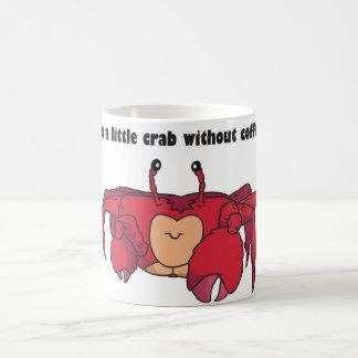 Taza de café divertida del cangrejo