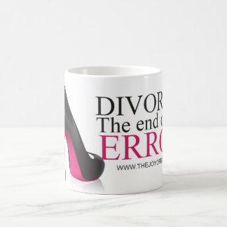 """Taza De Café Divorcio de los zapatos """". El final de un error."""""""