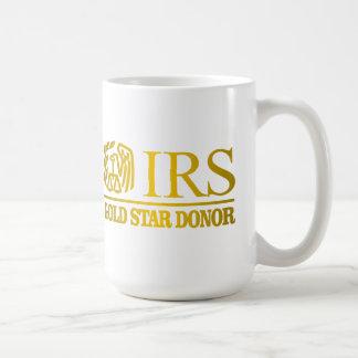 Taza De Café Donante de la estrella del oro del IRS