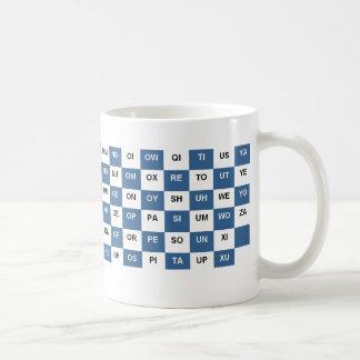 Taza De Café Dos palabras de la letra asaltan la versión azul y