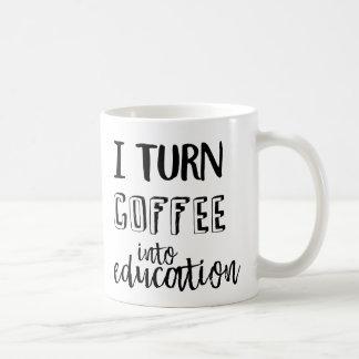 Taza De Café Doy vuelta al café en la educación