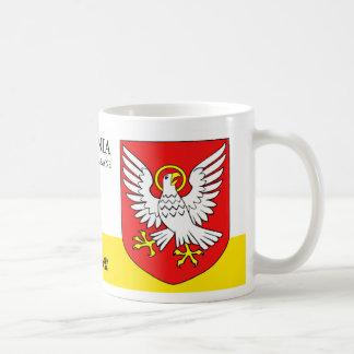 Taza De Café Eagle blanco santo con una espada de Viljandi