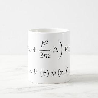 Taza De Café Ecuación de onda de Schrodinger