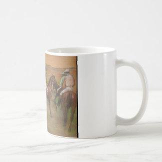 Taza De Café Edgar Degas - caballos de raza