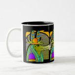 Taza de café egipcia del diseño de los hieroglyphi