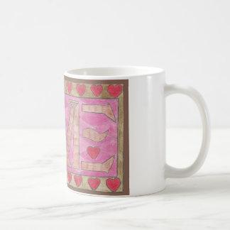 Taza De Café El amor es una palabra de cuatro letras