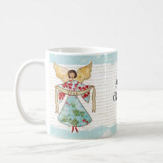 Taza De Café El ángel del navidad añade año