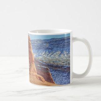 Taza De Café El arco delicado en Utah arquea el parque nacional