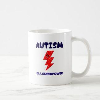 Taza De Café El autismo es superpotencia, mente mental de la