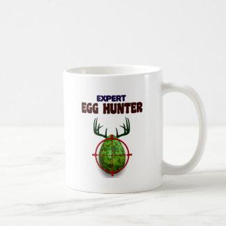 Taza De Café El cazador experto de Pascua, ciervo del huevo