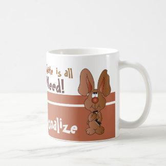 Taza De Café El chocolate es todo lo que necesito para Pascua
