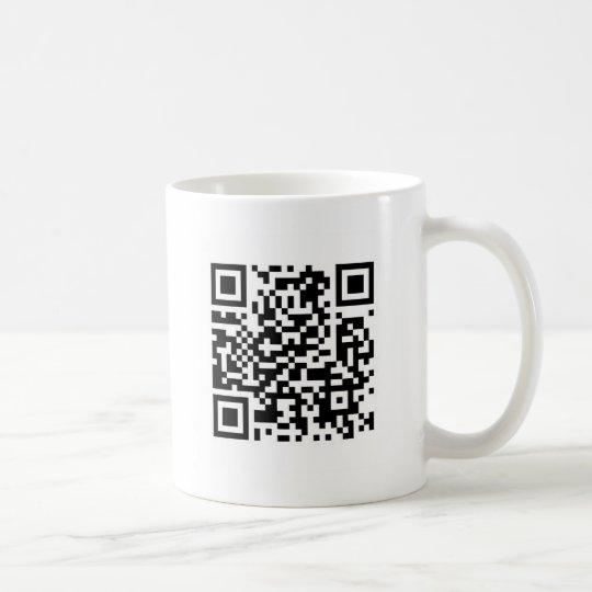 Taza De Café El código de QR hace el mundo un mejor lugar con