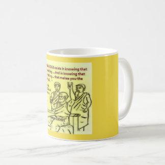 """Taza De Café El """"CONOCIMIENTO VERDADERO existe en saber ese"""