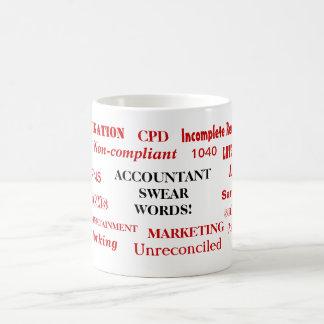 Taza De Café ¡El contable jura palabras! Términos de la