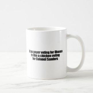 Taza De Café El contribuyente que vota por Obama es como un