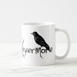 Taza De Café El cuervo de Edgar Allen Poe asalta nunca más