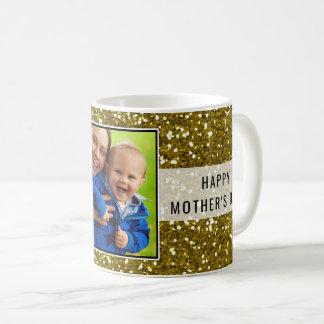 Taza De Café El día de madre purpurinoso de la foto del