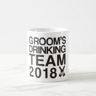 Taza De Café El equipo de consumición 2018 del novio