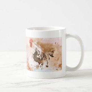 Taza De Café El gallo acoge con satisfacción la mañana