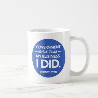 Taza De Café El gobierno no construyó mi botón del negocio