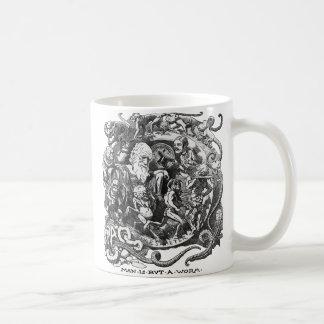 Taza De Café El hombre es solamente un gusano