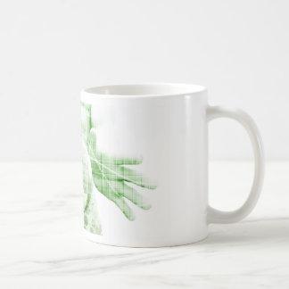 Taza De Café El ir adelante con éxito empresarial y crecimiento