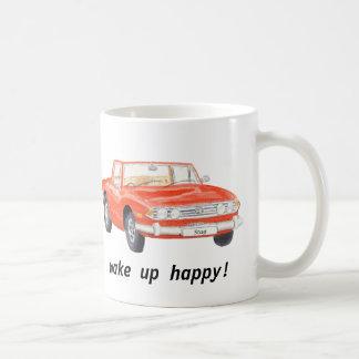 Taza De Café El macho de Triumph, coche rojo clásico
