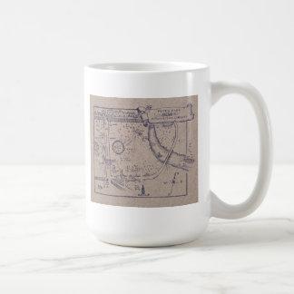 Taza De Café El mapa de Peter Pan de los jardines de Kensington