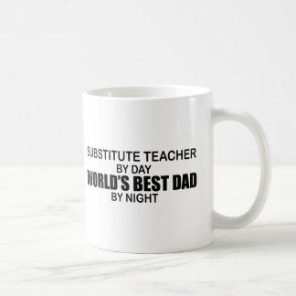 Taza De Café El mejor papá del mundo - profesor sustituto