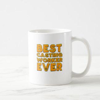 Taza De Café El mejor trabajador del bastidor nunca