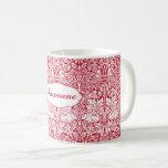 Taza De Café El modelo rojo Morris del conejo personalizó el