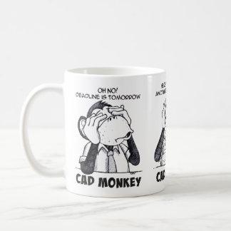 Taza De Café El mono del cad ve para oír para no hablar ninguna