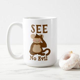 Taza De Café El mono divertido no ve ningún mal