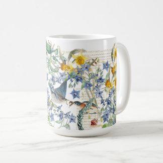 Taza De Café El narciso de los pájaros del Bluebird de Audubon