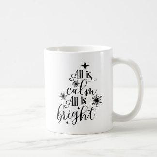 Taza De Café El navidad cristiano todo es calma que todo es