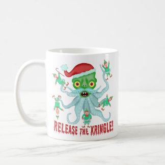 Taza De Café El navidad divertido lanza al Kringle Papá Noel