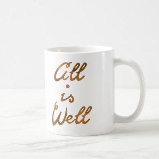Taza De Café El oro todo es tipografía bien de la cita