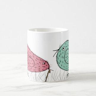 Taza De Café el pájaro temprano .....