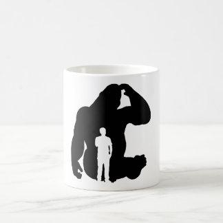 Taza De Café El pensador - gorila y hombre