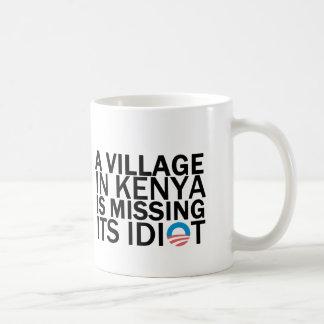 Taza De Café El pueblo en Kenia está faltando a su idiota