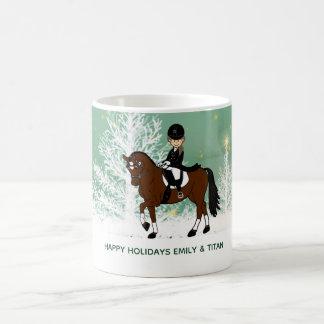 Taza De Café El regalo de encargo del jinete del caballo del