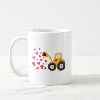 Taza De Café El regalo de los corazones del tractor del el día